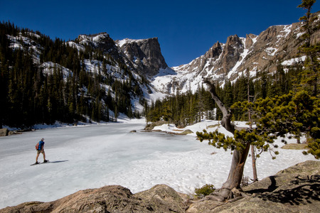 snowshoeing: Snowshoeing in Rocky Mountain National park