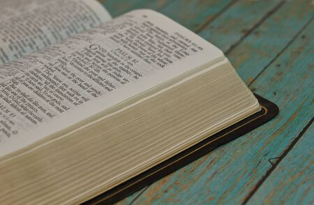 psalm: Bible opened to the Book of Psalm