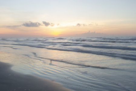 sunrise along the Gulf of Mexico - Port Aransas Texas morning