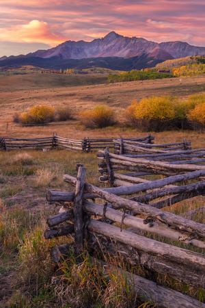 Sunrise on Wilson Mesa located in Telluride Colorado 免版税图像