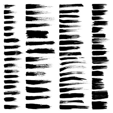 strokes: set of grunge brush strokes. Illustration