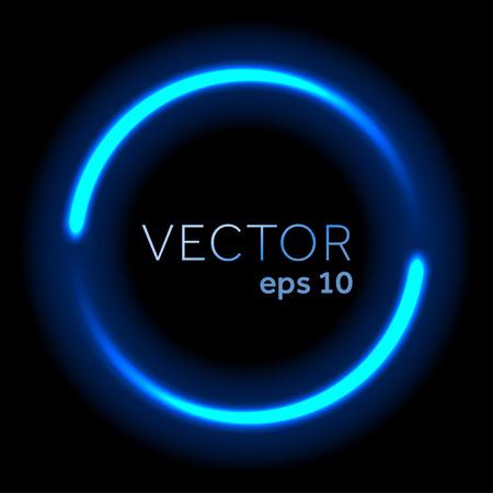 Światła: Niebieski neon płynącego światła krąg Ilustracja