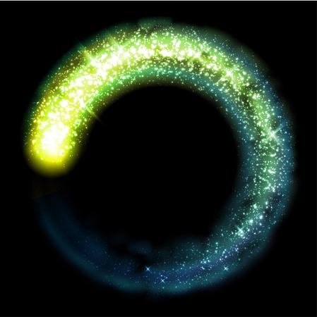 Gold glittering star dust circle