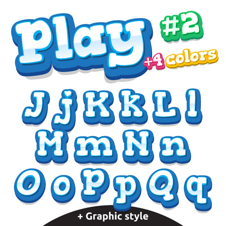 cartoon numbers: Children video game letters.