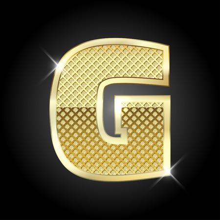metal gold letter from alphabet Çizim