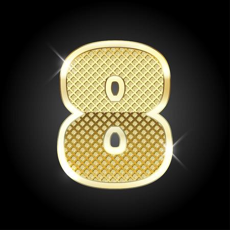 gold metal: metal gold letter of number