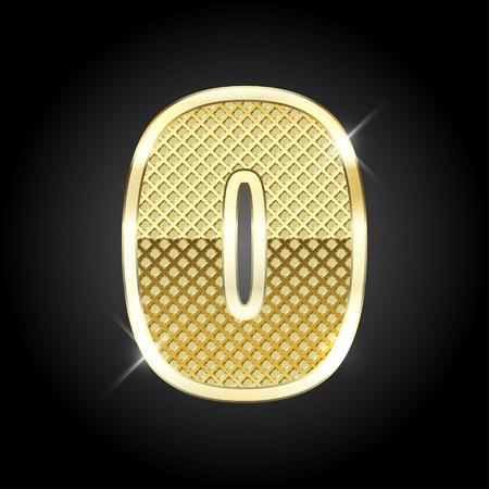 nulo: la letra del oro del n�mero