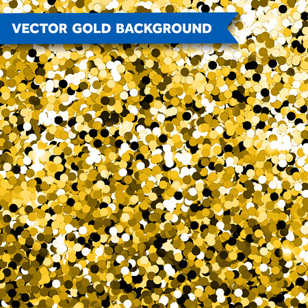 background abstraction: Vector Gold Glittering background of bright sequins