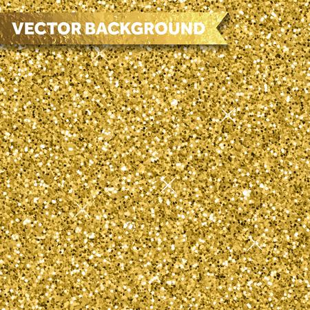 Gold glitter texture for festive backgound Illustration