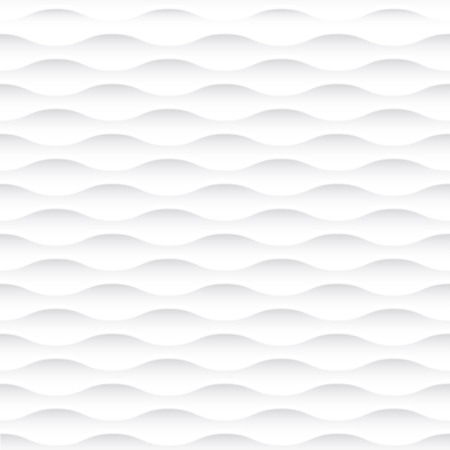 White seamless texture. Wavy background. Interior wall decoration. 3D Vector interior wall panel pattern. Vector white background of abstract waves. 向量圖像