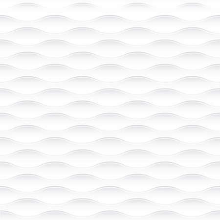 white napkin: White seamless texture. Wavy background. Interior wall decoration. 3D Vector interior wall panel pattern. Vector white background of abstract waves. Illustration