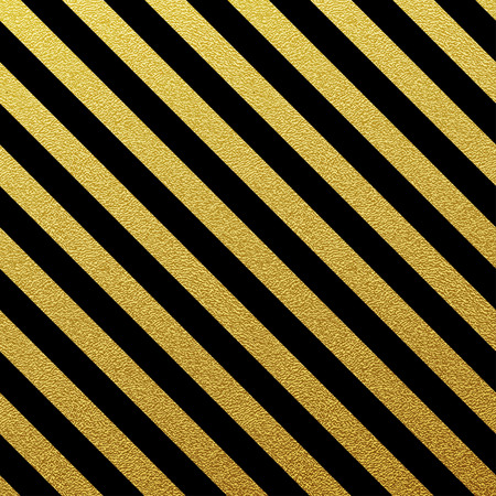 black stripes: Gold glittering seamless lines pattern on white background Illustration