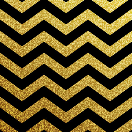 Gold glittering zigzag wave backgroun