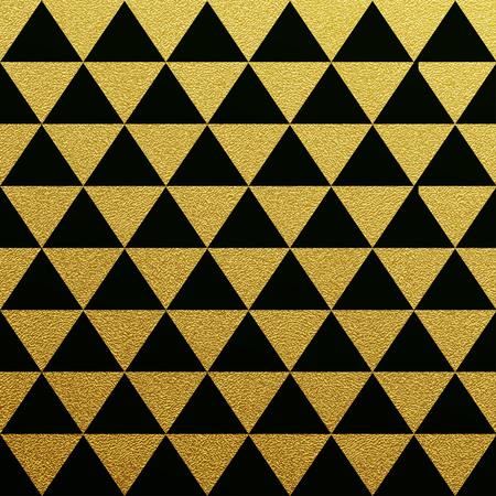 oro: Oro brillante sin patrón de triángulos en el fondo negro