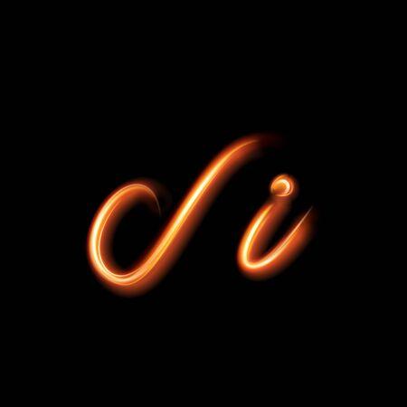 flames: Pintura de iluminaci�n de la mano de l�neas de luz brillantes