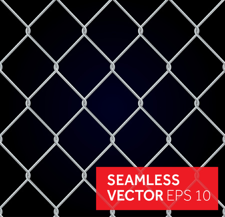 wire fence: seamless wired fence background Illustration