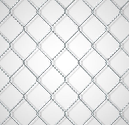 chain fence: Chain fence white background with shadow