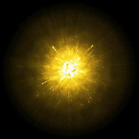 explosion: Gold big solar explosion background Stock Photo