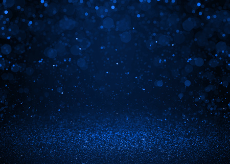 Abstract blue sparkle glitter background. Stock Photo