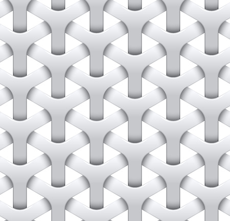 mesh texture: Seamless mesh background. White geometric texture. Vector seamless background