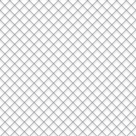 metal grate: Seamless cage textured white background. Illustration