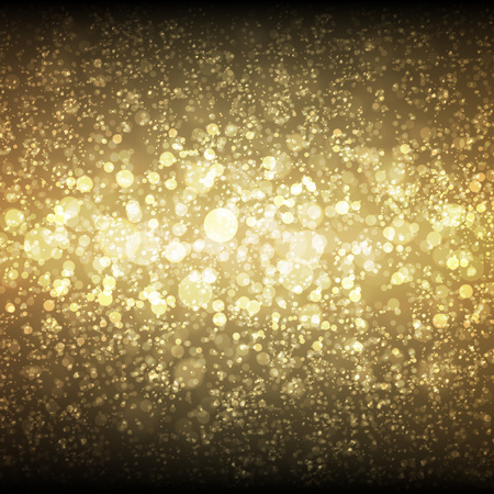 golden light: Festive Christmas and New Year bokeh background with space for text message. Illustration