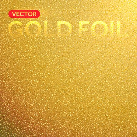 Vector Goldfolienhintergrund. Goldener Folie Textur.