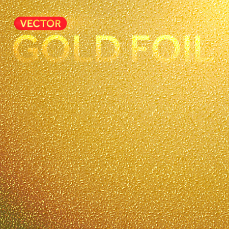 background texture: Vector gold foil background. Golden foil texture. Illustration