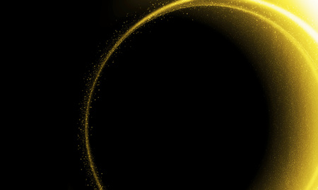 black yellow: Abstract glittering solar and lunar eclipse background