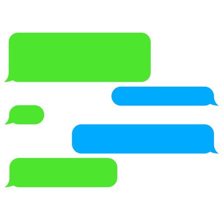 벡터 평면 전화 채팅 거품. SMS 메시지. 연설 거품입니다. 짧은 메시지 서비스는 거품입니다.