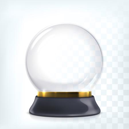 wereldbol: Lege kerstmis kristal sneeuwbol