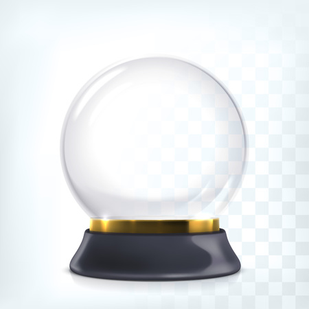 Empty christmas crystal snow globe