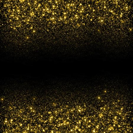 ゴールドに輝いてキラキラ背景。キラキラ星の背景。スパーク リングの流れの背景 写真素材 - 45043527
