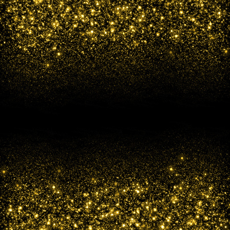 sparkles: Gold sparkle glitter background. Glitter stars background. Sparkling flow background