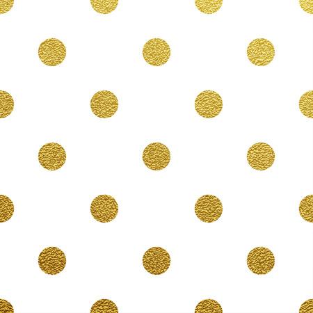 Gold glittering polka dot seamless pattern