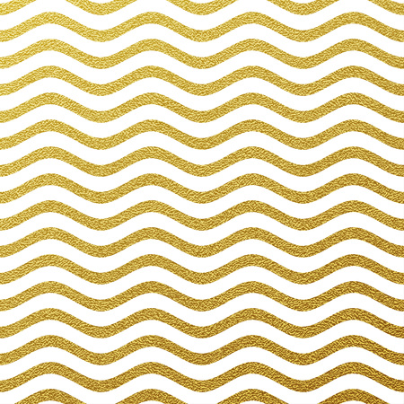 graphics card: Gold glittering wavy stripes pattern on white background Illustration