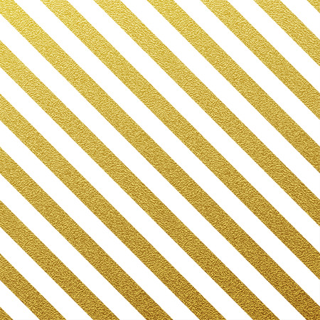 Gold glittering seamless lines pattern on white background Illustration