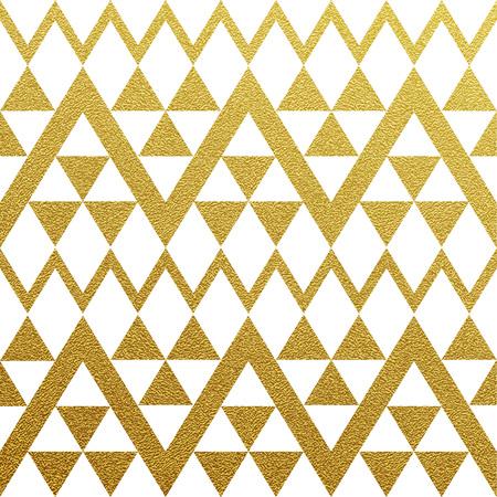 rosa negra: Oro brillante sin patrón de triángulos en el fondo blanco Foto de archivo