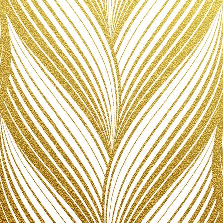 金きらびやかな抽象的なウェーブ ストライプ パターン。ゴールドの背景にシームレスなテクスチャ