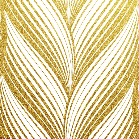 foil: Gold glittering abstract wavy stripes pattern. Seamless texture with gold background