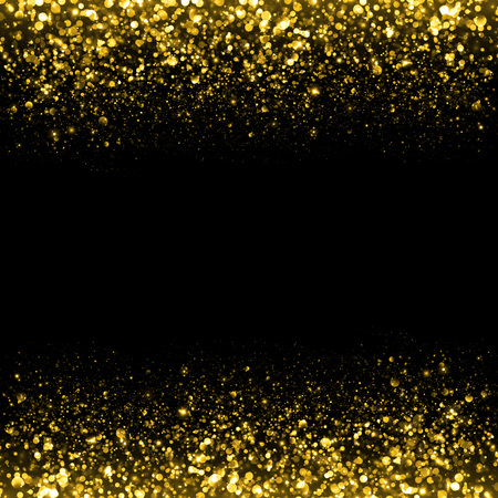 Gold sparkle glitter background. Glitter stars background. Sparkling flow background Stok Fotoğraf - 45716947