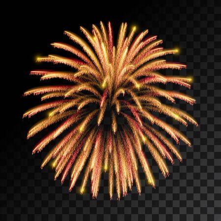 sparkling: Sparkling fireworks explosions. Vector illustration Illustration