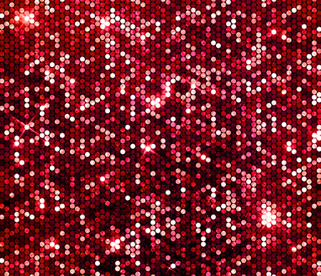 luz roja: Brillo chispa fondo de la pared roja de lentejuelas brillantes. Foto de archivo
