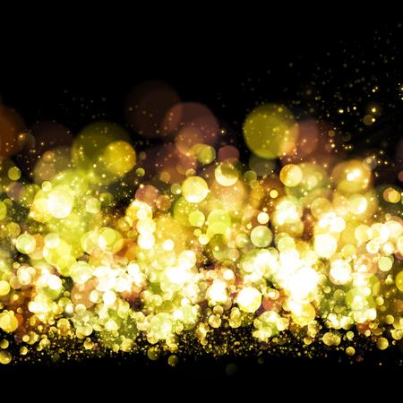 amarillo y negro: Brillo del oro de fondo bokeh Sprkling