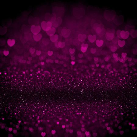 ハート バレンタイン光輝くボケ背景