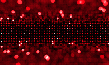 glamour: Defocused red blinking background. Abstract circular bokeh background.
