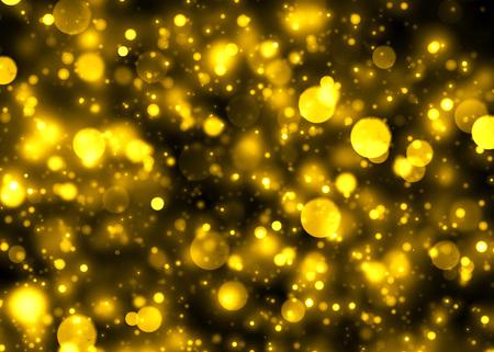 cluster: Gold glittering bokeh lights cluster background
