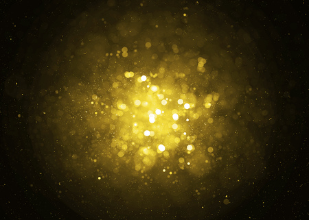amarillo y negro: Desenfocado chispa de oro luces brillo de fondo. Glitter fondo bokeh