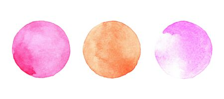 paper  texture: Watercolor circles collection. Watercolor stains set isolated on white background. Watercolour palette.