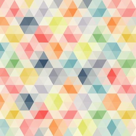 forme: Multicolore angulaire motif de wattled fond. Géométrique lié rétro mosaïque.